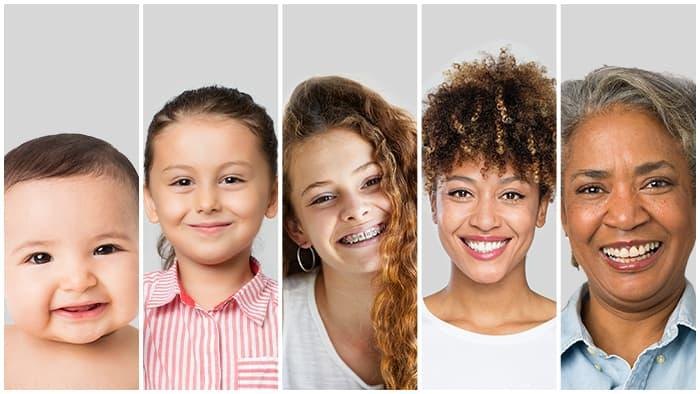 Cuidados com a pele em diferentes idades