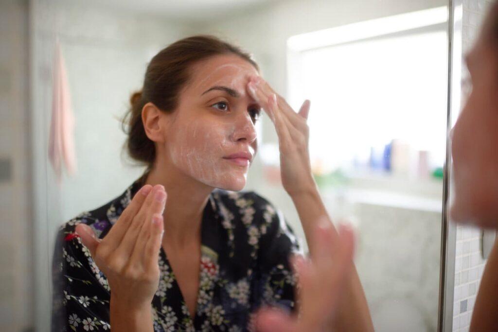 Skin care. Limpeza de pele