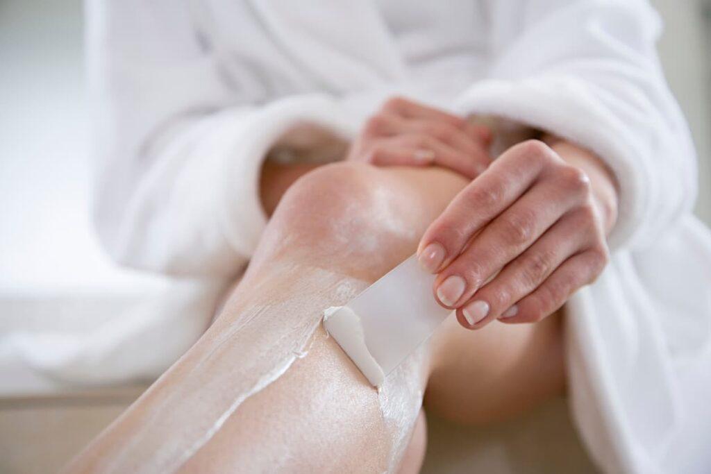 Depilação creme depilatório pernas
