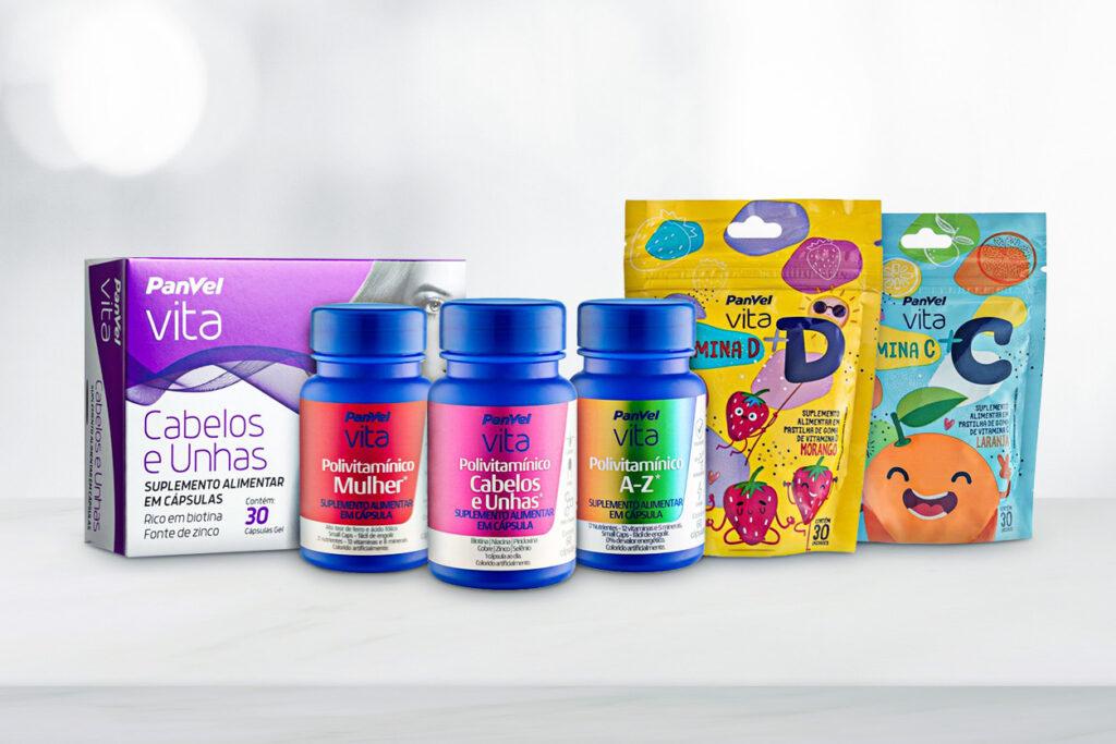Panvel Vita, produtos da linha de vitaminas e suplementos